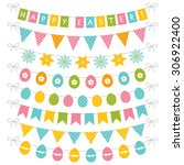 easter vector banners set