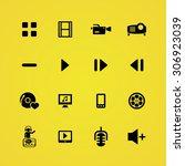 dj icons universal set for web... | Shutterstock . vector #306923039