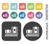 luggage carousel travel icons... | Shutterstock .eps vector #306930704