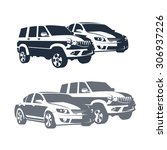 set of vectors isolated cars | Shutterstock .eps vector #306937226