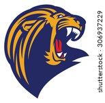 roaring lion head mascot | Shutterstock .eps vector #306937229