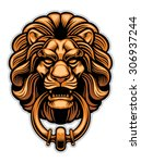 Decoration Of Lion Door Knocker