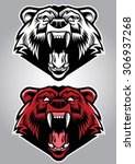 angry grizzly bear mascot | Shutterstock .eps vector #306937268