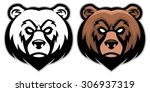 angry bear head mascot | Shutterstock .eps vector #306937319
