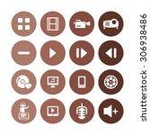dj icons universal set for web... | Shutterstock . vector #306938486