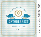 oktoberfest vintage poster or...   Shutterstock .eps vector #306941300
