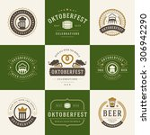 retro style labels  badges and... | Shutterstock .eps vector #306942290