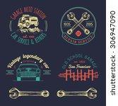 garage logos set. car repair... | Shutterstock .eps vector #306947090