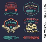 garage logos set. car repair... | Shutterstock .eps vector #306947156