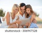 summer holidays  children and... | Shutterstock . vector #306947528