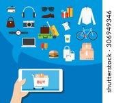 mobile marketing. | Shutterstock .eps vector #306949346