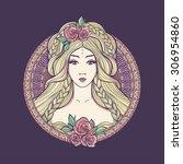 Art Nouveau Woman With...