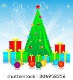 merry christmas festival for... | Shutterstock . vector #306958256