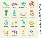 hygiene elements  vector... | Shutterstock .eps vector #306966059