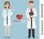 doctor occupation character... | Shutterstock .eps vector #306966938