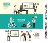 business design planning... | Shutterstock .eps vector #306969086
