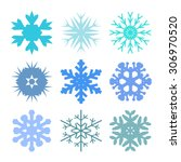 snowflake set for winter design.... | Shutterstock .eps vector #306970520