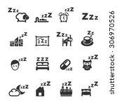 sleeping icons set  vector | Shutterstock .eps vector #306970526