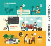 business travel design concept... | Shutterstock .eps vector #306985640