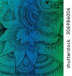 vector illustration of doodle... | Shutterstock .eps vector #306986006