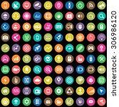 hi tech 100 icons universal set ... | Shutterstock .eps vector #306986120