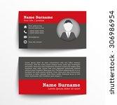 modern simple business card set ... | Shutterstock .eps vector #306986954
