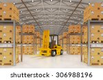 warehouse logistics  packages... | Shutterstock . vector #306988196