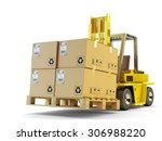 warehouse logistics  packages... | Shutterstock . vector #306988220
