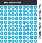 doctor 100 icons universal set... | Shutterstock .eps vector #306989798