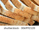 whole wheat bread slice | Shutterstock . vector #306992120