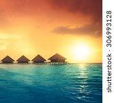 Sunset On Maldives Island ...