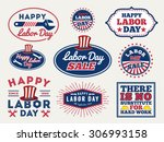 Sets Of Labor Day Badge And...