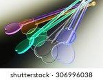 plastic drink stirrers   Shutterstock . vector #306996038