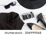 voyage concept   set of cool... | Shutterstock . vector #306999068