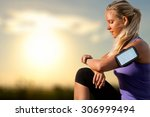 portrait of young athlete... | Shutterstock . vector #306999494