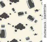 black pepper powder and shaker... | Shutterstock .eps vector #306999764