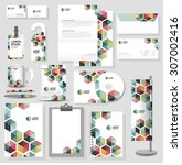 corporate identity template... | Shutterstock .eps vector #307002416