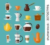 Vector Coffee Icons.flat Coffee ...