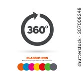angle 360 degrees sign icon.... | Shutterstock .eps vector #307008248