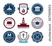 university and college school... | Shutterstock .eps vector #307009853