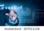 close up of businessman... | Shutterstock . vector #307011128