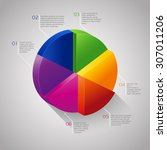 vector colorful circle 3d... | Shutterstock .eps vector #307011206