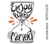 vector hand lettered... | Shutterstock .eps vector #307011233