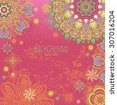 doodle mandala.  background for ... | Shutterstock .eps vector #307016204