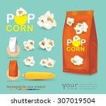 popcorn package for your design.... | Shutterstock .eps vector #307019504