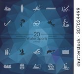 water sports modern icons for... | Shutterstock .eps vector #307024499
