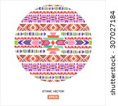 vector colorful decorative... | Shutterstock .eps vector #307027184