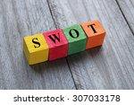 swot  swot analysis  text on... | Shutterstock . vector #307033178