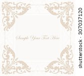 elegant invitation. decorative... | Shutterstock .eps vector #307037120