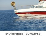 boat making waves | Shutterstock . vector #30703969